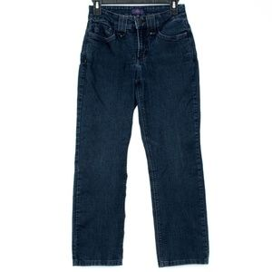 "NYDJ ""Straight"" Jeans Womens 2 Petite E2"